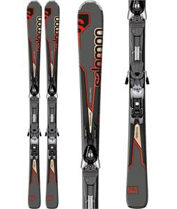 Salomon Enduro Rxt 750 Skis Black/Red w/ Z10 Bindings