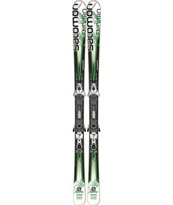 Salomon Enduro XT 800 Skis w/ Z12 Bindings White/Green/Black