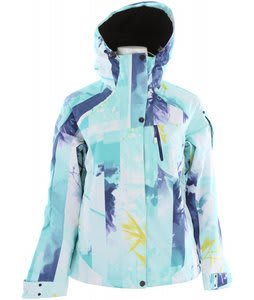 Salomon Exposure Ski Jacket Bright Yellow/Dark Violet Blue/Bay Blue