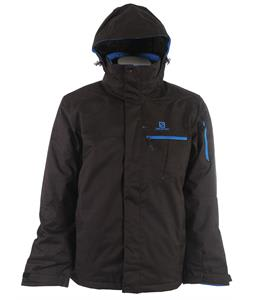 Salomon Express II Ski Jacket Black/Union Blue