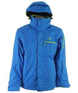 Salomon Express II Ski Jacket Union Blue/Organic Green