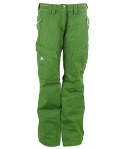 Salomon Fantasy Ski Pants Amphib Green