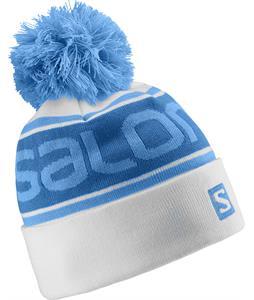 Salomon Free Beanie White/Methyl Blue/Blue Line