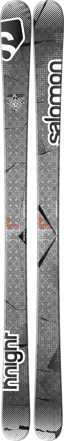 Shop for Salomon Knight Skis Grey/White/Black - Men's