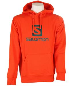Salomon Logo Hoodie Orange Glow