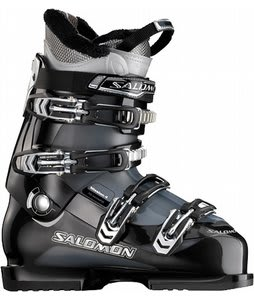 Salomon Mission 4 Ski Boots Black/Gun Metal Translucent