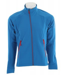 Salomon Momentum 3 Softshell Cross Country Ski Jacket Vibrant Blue/Black