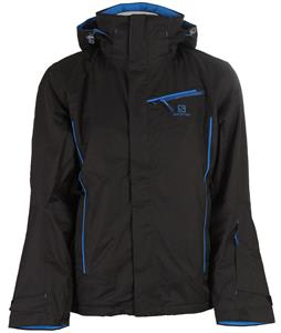 Salomon Open Ski Jacket Black/Union Blue