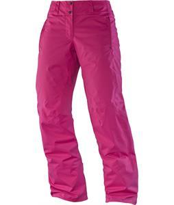 Salomon Open Ski Pants Daisy Pink