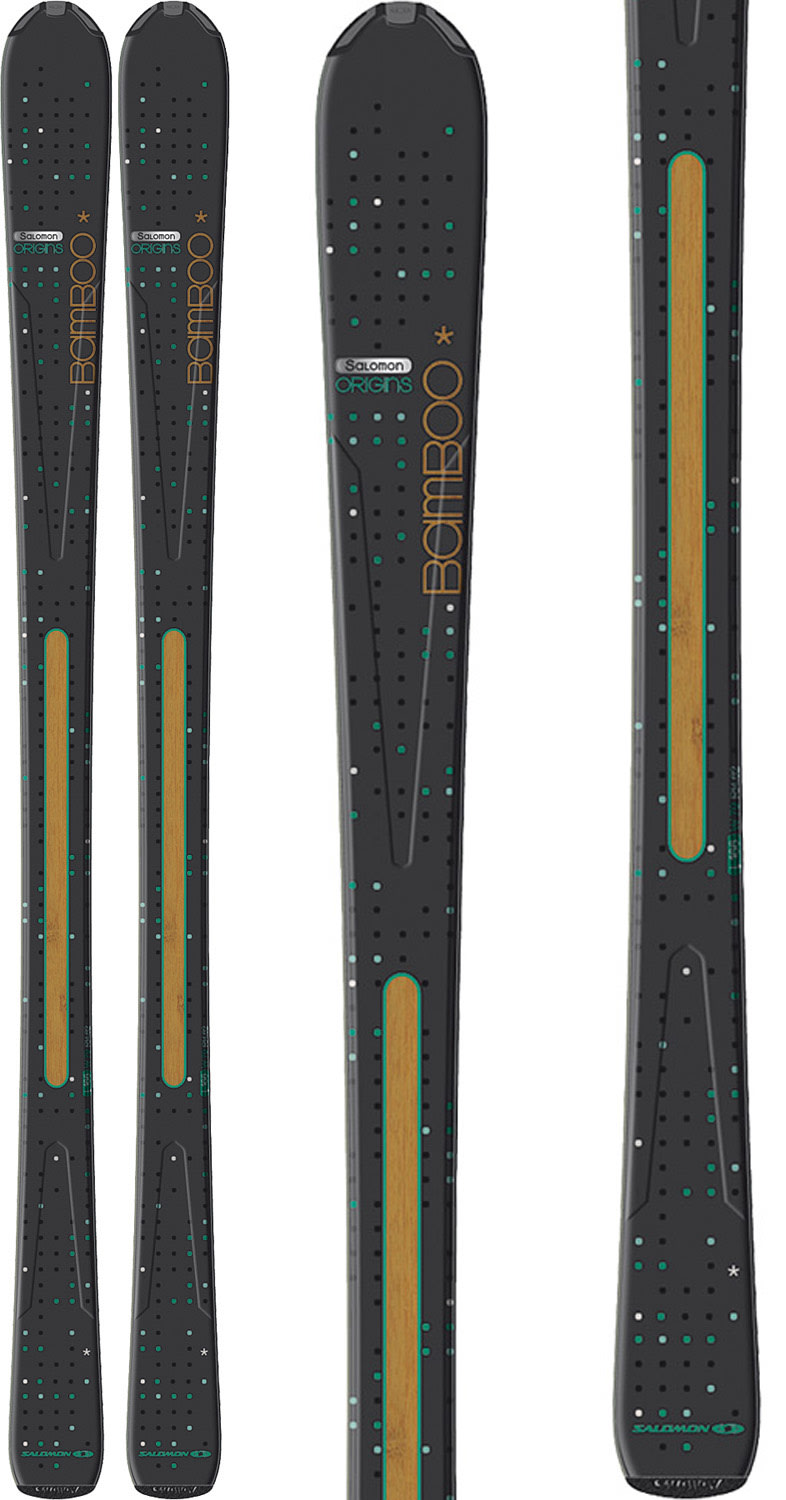 Shop for Salomon Origins Bamboo Skis Black/Blue - Women's