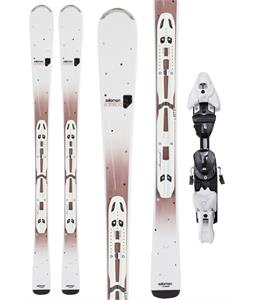 Salomon Origins Bamboo Skis w/ Z10 TI Bindings White/Brown