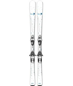 Salomon Origins Lagoon Skis White/Blue w/ L9 Bindings