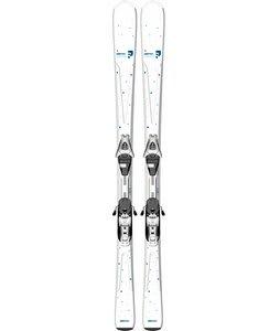 Salomon Origins Lagoon Skis White/Blue w/ L9 Bindings