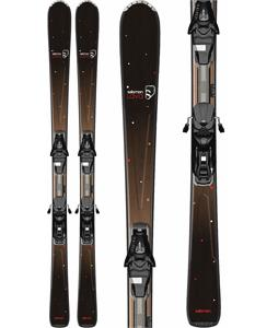 Salomon Origins Lava Skis Black/Brown w/ L9 Bindings