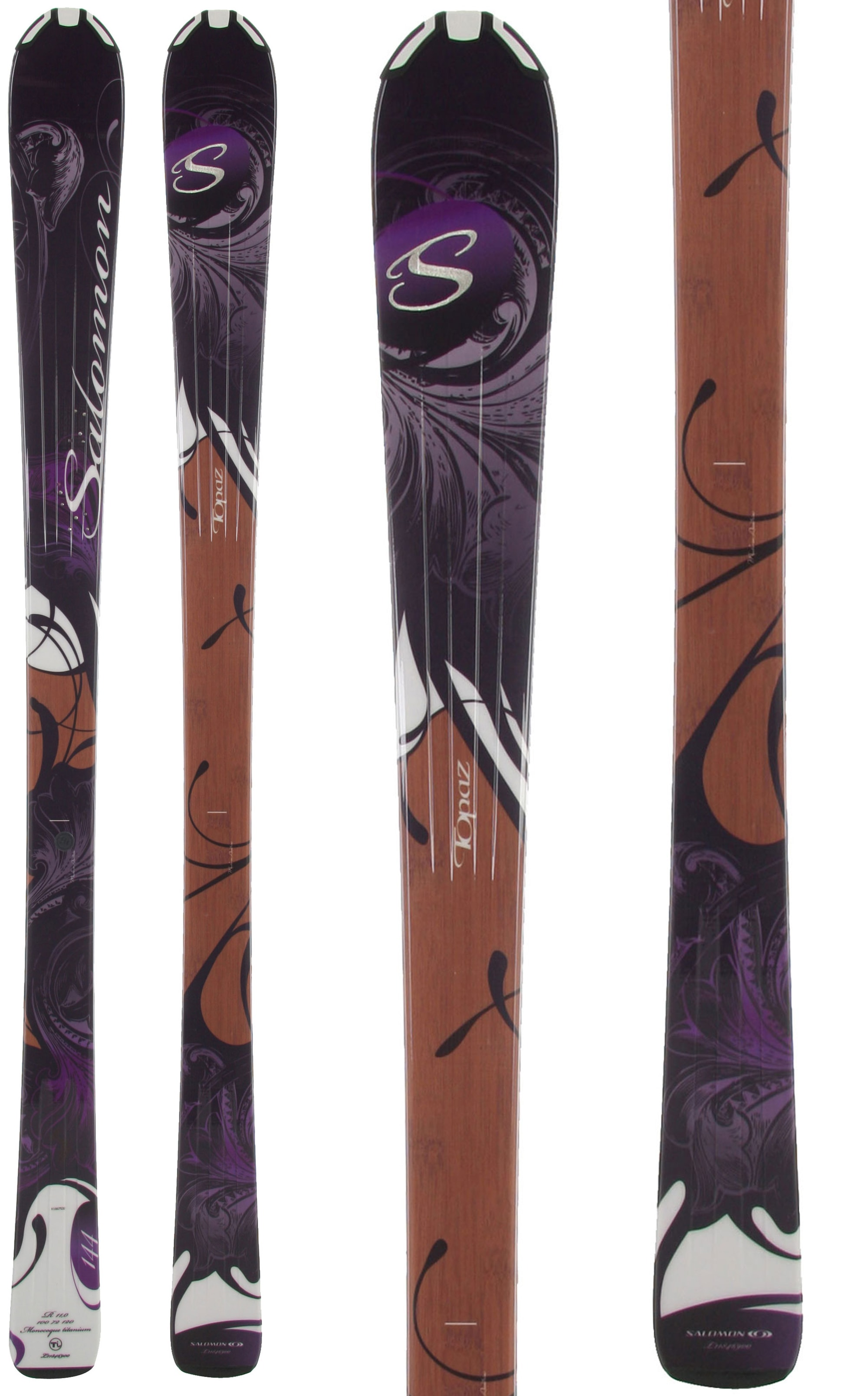 Shop for Salomon Origins Topaz Skis Black/Brown - Women's