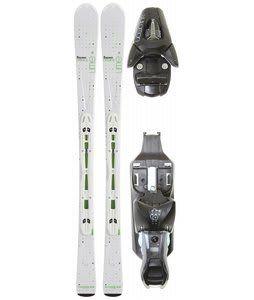 Salomon Origins Lime Skis White/Green w/ L9 Bindings Black