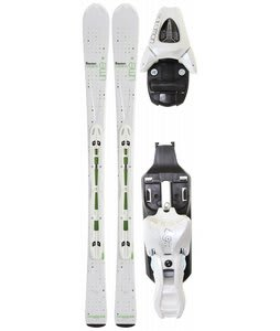 Salomon Origins Lime Skis White/Green w/ L9 Bindings White