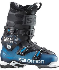 Salomon Quest Access 90 Ski Boots Blue Translucent/Black