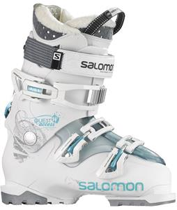 Salomon Quest Access 50 Ski Boots White/Cold Sea Translucent