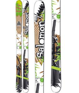 Salomon Shogun Skis Green/Brown/White