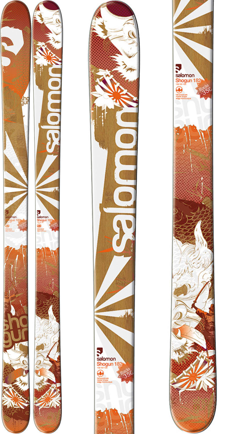 Shop for Salomon Shogun Skis Red/White/Brown - Men's