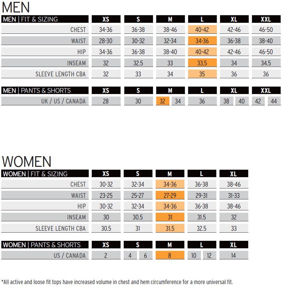Salomon Size Chart