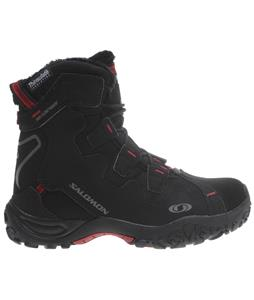 Salomon Snowtrip TS WP Boots Black/Black/Rubis-X