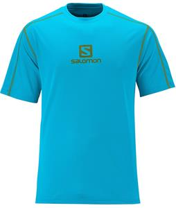 Salomon Stroll Logo T-Shirt Scuba Blue