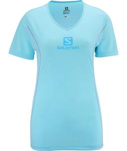 Salomon Stroll Logo T-Shirt Clearwater Blue