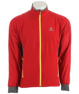 Salomon Super Fast Cross Country Ski Jacket Victory Red/Dark Cloud