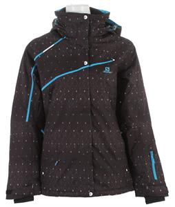 Salomon Supernova Ski Jacket Black/Boss Blue/White