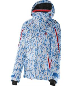 Salomon Supernova Jacket Methyl Blue/White/Poppy
