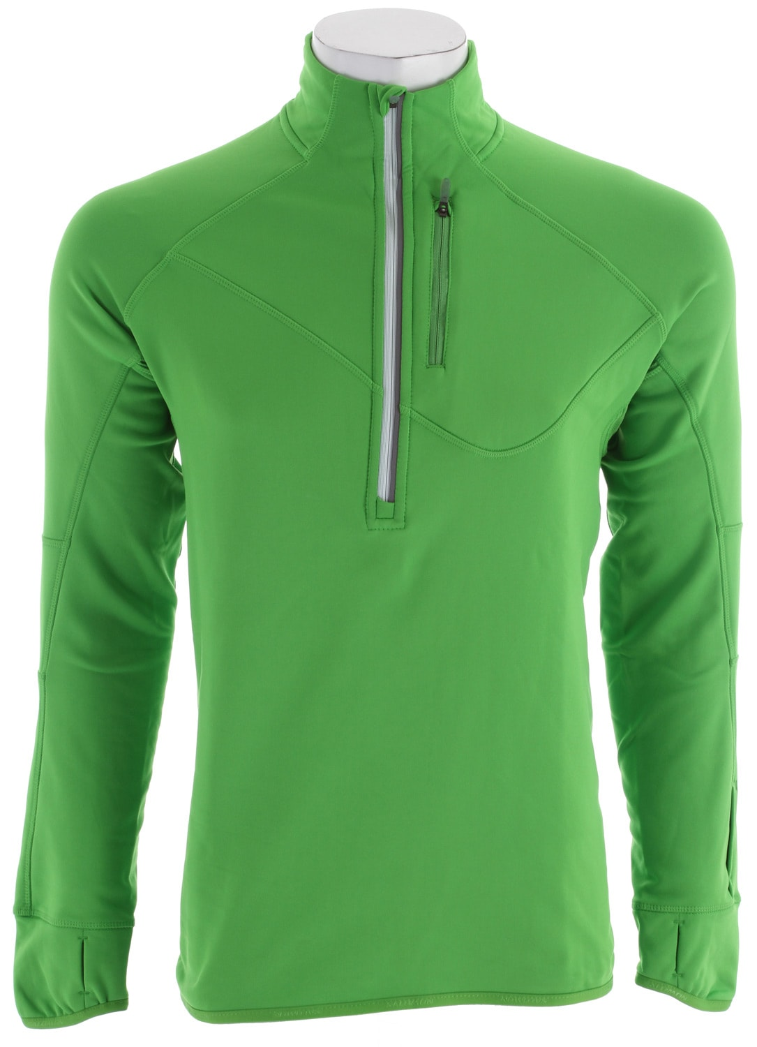 Shop for Salomon Swift Midlayer Baselayer Top Bright Green - Men's