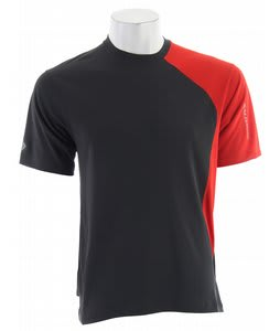 Salomon Trail III Tech T-Shirt Asphalt/Red Pepper
