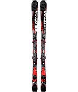 Salomon X-Drive 80 Skis w/ Z10 Bindings Black/Red