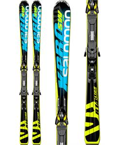 Salomon X-Pro SW Skis w/ Z10 Bindings Blue/Black/Yellow