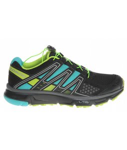 Salomon XR Mission Hiking Shoes Black/Mooreablue/Pop Green