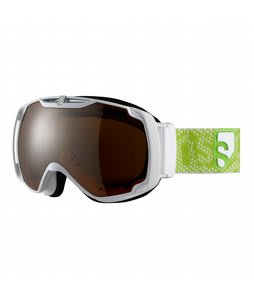 Salomon Xtend Xcite8 Goggles White/Orange Mirror Lens