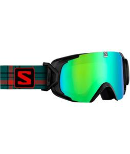 Salomon XView Goggles Black/ML Green Solar Lens