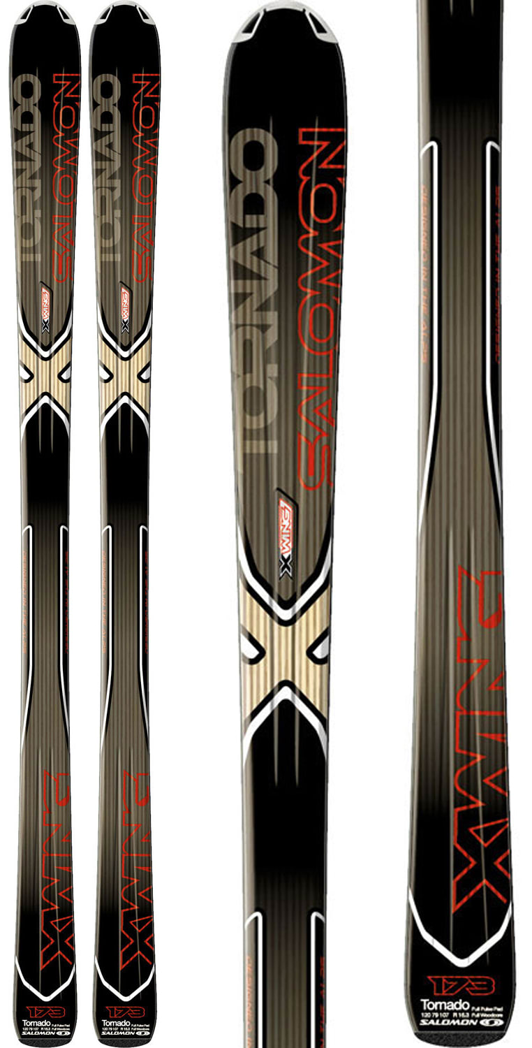 Shop for Salomon XW Tornado Skis Black/Red 159 - Men's