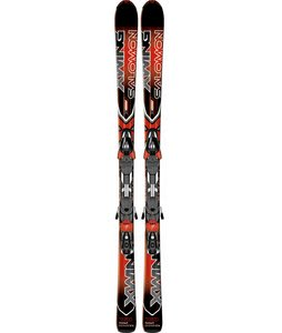 Salomon X-Wing 8 Skis w/ Z10 B80 Bindings Red/Black