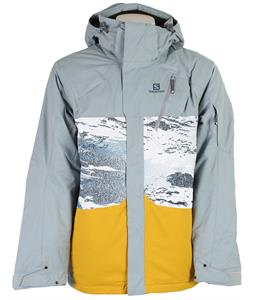 Salomon Zero Insulated Ski Jacket Shadow Grey/Dusty Sunx
