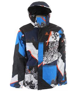Salomon Zero Ski Jacket Union Blue/Orange Glow/ Big Blue-X