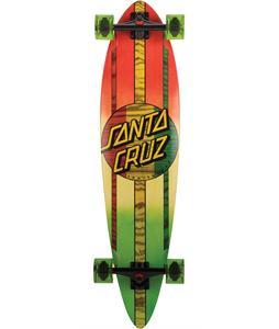 Santa Cruz Mahaka Rasta Fade Pintail Longboard Complete