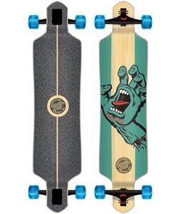 Santa Cruz Drop Thru Stained Hand Bamboo Longboard Complete