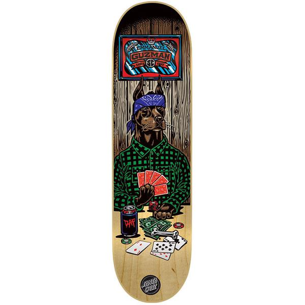 Santa Cruz Guzman Poker Dog Skateboard Deck