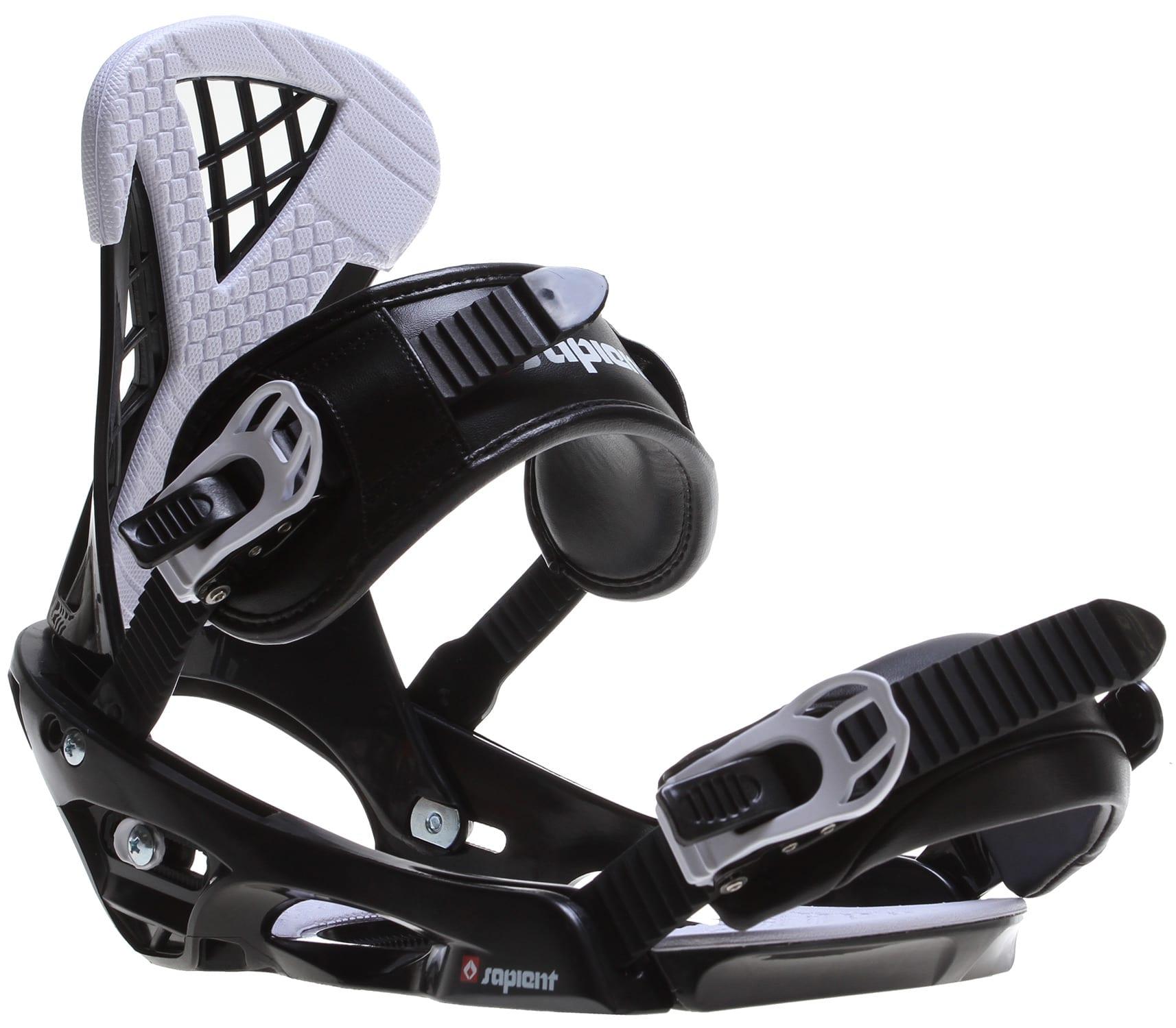Sapient Wisdom Snowboard Bindings Black/White Mens Sz M/L