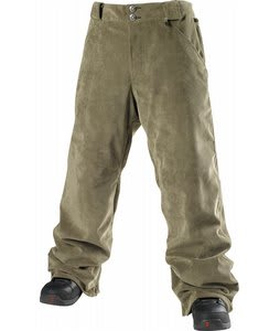 Special Blend 5 Pocket Freedom Snowboard Pants Burnt Greens Corduroy