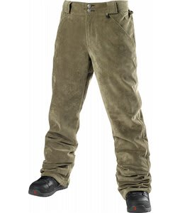 Special Blend 5 Pocket Revolver Snowboard Pants Burnt Greens Corduroy