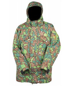 Special Blend Autograph Snowboard Jacket Green Fader Flage